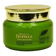 Deoproce Крем на основе зеленого чая для лица, 60мл.