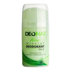 Aloe Mineral Deodorant Stick (push-up) - Deonat  Дезодорант-Кристалл с натуральным соком Алоэ - 100 гр