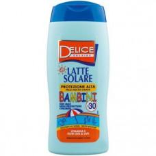 Солнцезащитное молочко для детей с степенью защиты Delice Solaire SPF30, 250 мл